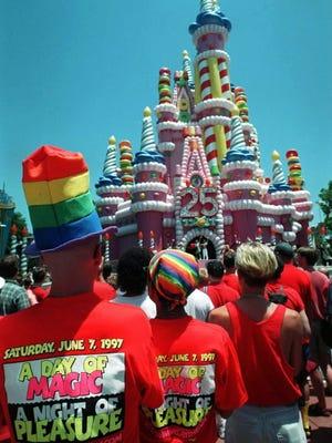 Gay Day 1997 at Walt Disney World, Lake Buena Vista, Fla., June 7, 1997.