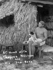 Trapper Nelson with his dog Bozo.