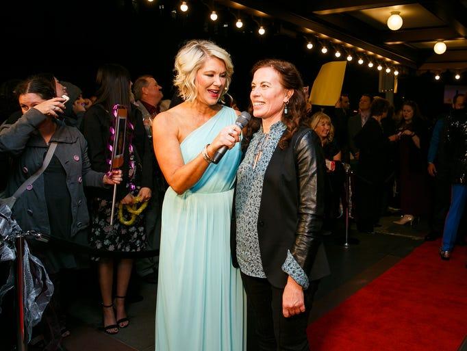 Kelli Swanson-Jaecks, left, interviews Waldo Middle