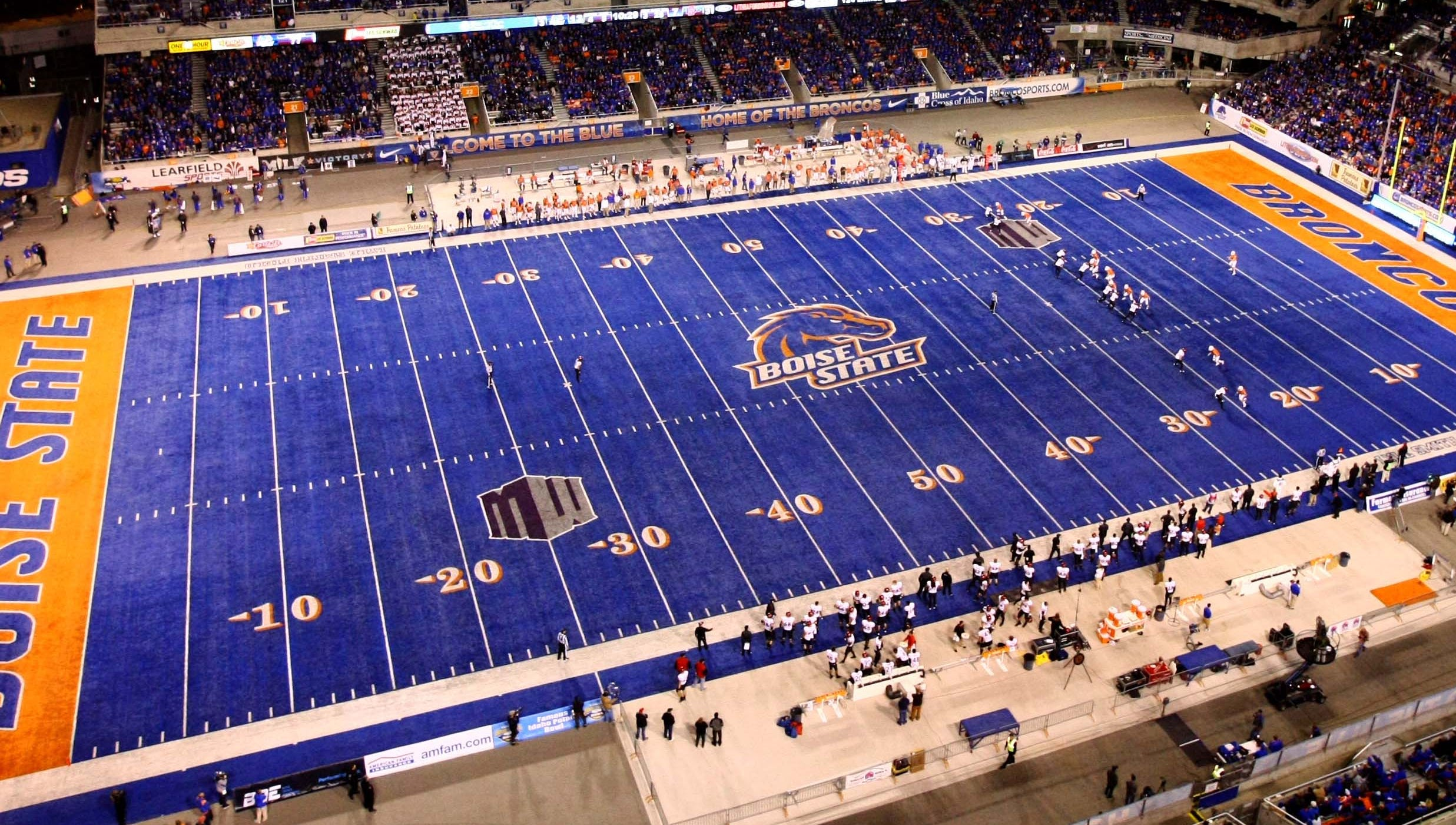 Bronco Stadium, Boise State: The standout feature is the famous blue turf, which was installed in 1986. It was largely anonymous until the school emerged as a national power this century.