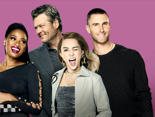 Jennifer Hudson, left, joins Blake Shelton, Miley Cyrus,