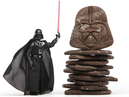 With the right tools and creativity, ordinary recipes become Star Wars food. Dark Chocolate Vader Cookies by Anne Reed.