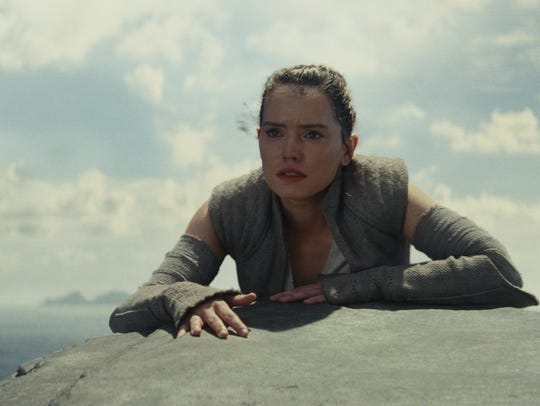 Daisy Ridley stars as the heroine Rey in 'Star Wars: