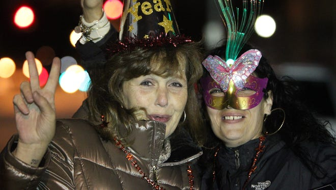 People welcome in the 2016 at Peekskill's New Years Eve celebration Dec. 31, 2015.