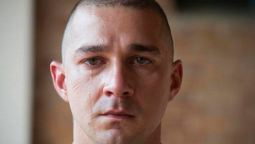 "This image released by Lionsgate shows Shia LaBeouf in the film, ""Man Down."""