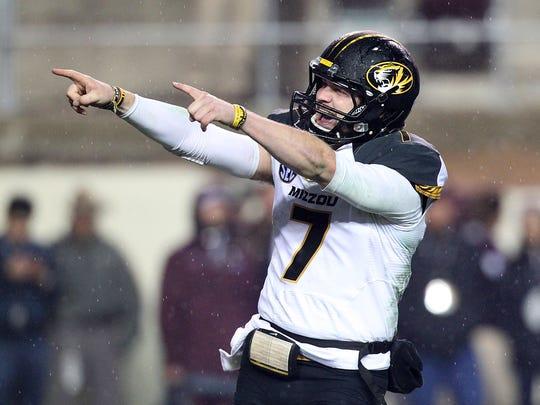 Missouri quarterback Maty Mauk.