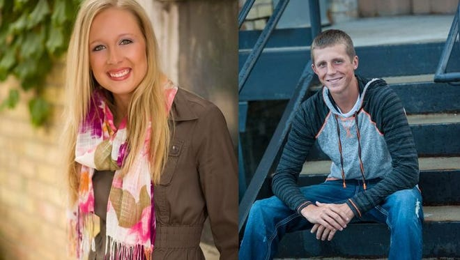 Abby Gallenberger and  Austin Nellis of Luxemburg-Casco High School.