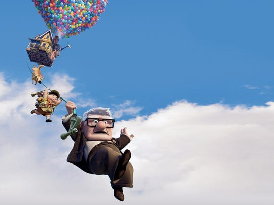 """Carl goes """"Up"""" in the 2009 film that mixes whimsy and adventure."""
