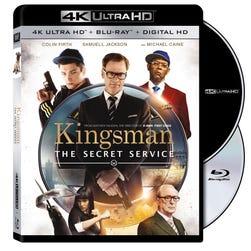 An image of 'Kingsman: The Secret Service' 4K Ultra HD Blu-ray Disc packaging