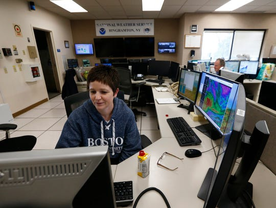 National Weather Service meteorologist, Joanne LaBounty