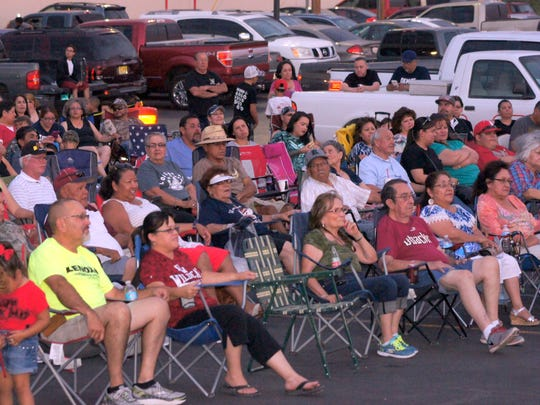 Alegria fans brought their lawn chairs on Friday to hear the band's free concert, commemorating the Peppers Supermarket 20th anniversary. The crowd was estimated at 750 fans.