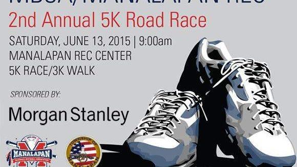 Manalapan Baseball & Softball Association 5K Road Race - June 13, 2015