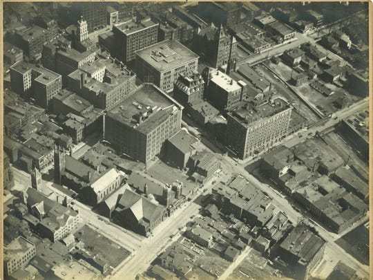 One of the aerial photographs of Rochester, shot by Albert Stone in 1919.