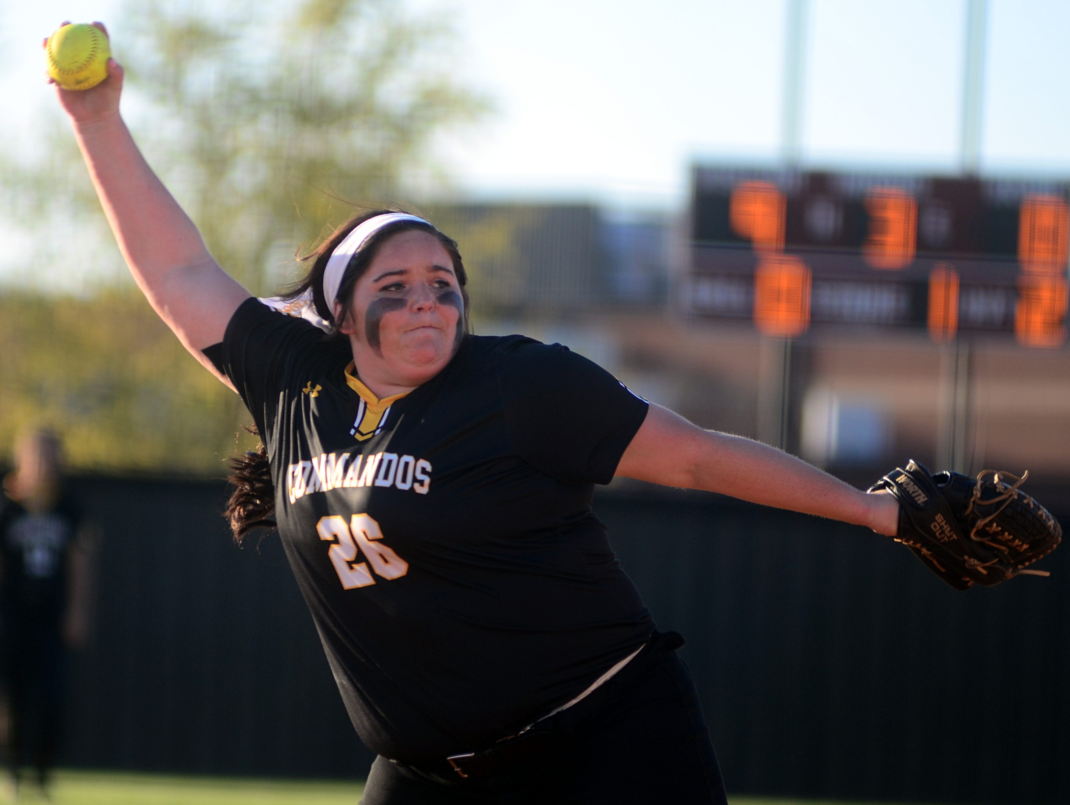 Hendersonville High senior pitcher Carley Carlisle struck out 13 hitters in the Lady Commandos' 14-2 victory at Station Camp on Monday evening. Carlisle allowed just one hit and also drove in two runs.