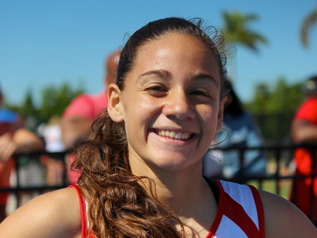 Evangelical Christian School's Sierra Oliveira won the Class A 800-meter run in 2:15.51 on Friday at the FHSAA track and field championships at IMG Academy in Bradenton.