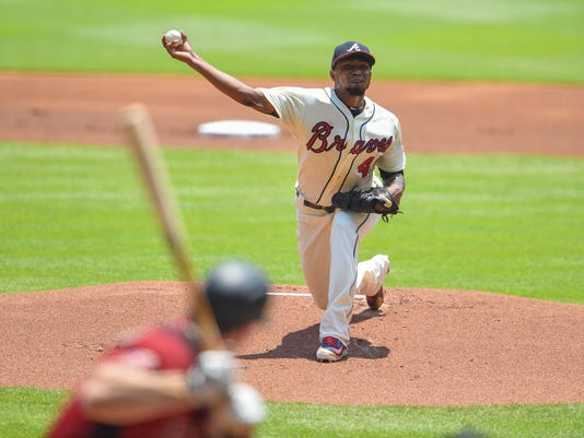 MLB: Arizona Diamondbacks at Atlanta Braves