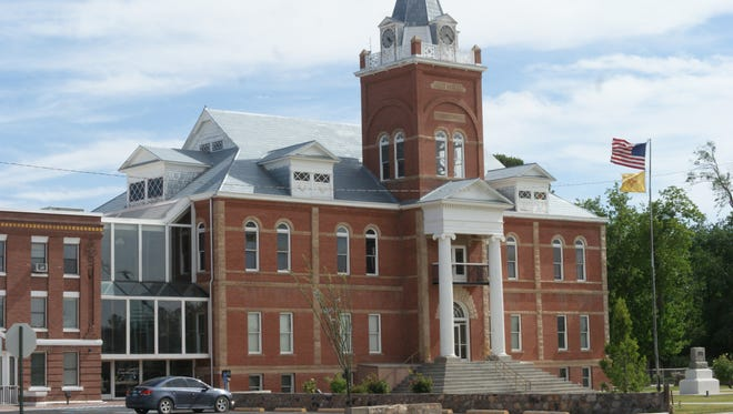 The historic Luna County Courthouse stands as a symbol of local government and its people.