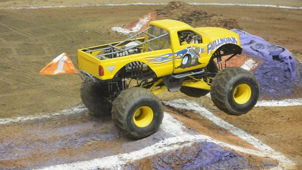 Monster Jam show in Chattanooga, Tennessee.