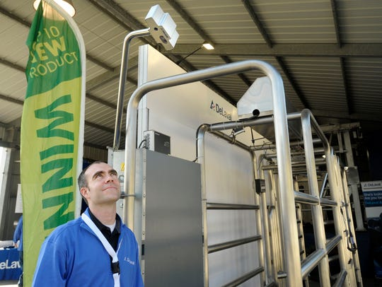 Vernon Hawks, pictured, marketing manager with DeLaval