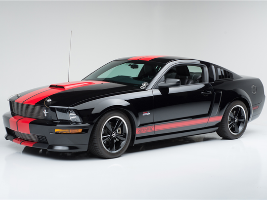 "This 2008 Ford Shelby GT Mustang ""Barrett-Jackson edition"" is scheduled for auction at Barrett-Jackson Scottsdale on Wednesday, Jan. 18, 2017."