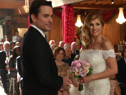 Charles esten and connie britton finally tie the knot on abc s