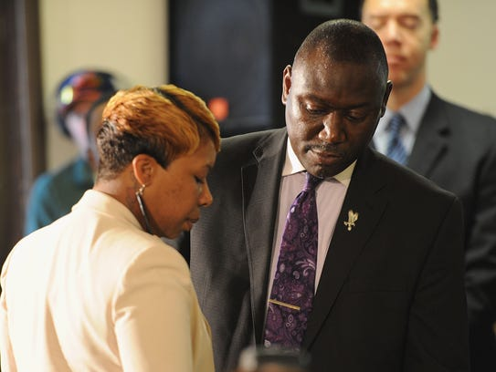 Lesley McSpadden and Benjamin Crump