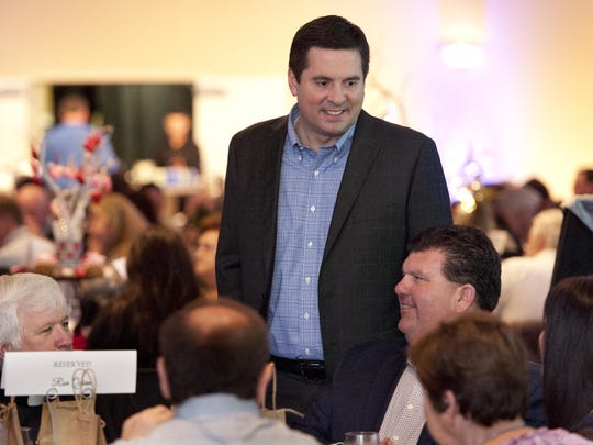 Congressman Devin Nunes at a Tulare Chamber of Commerce event.