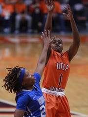UTEP's Starr Breedlove shoots over Middle Tennessee