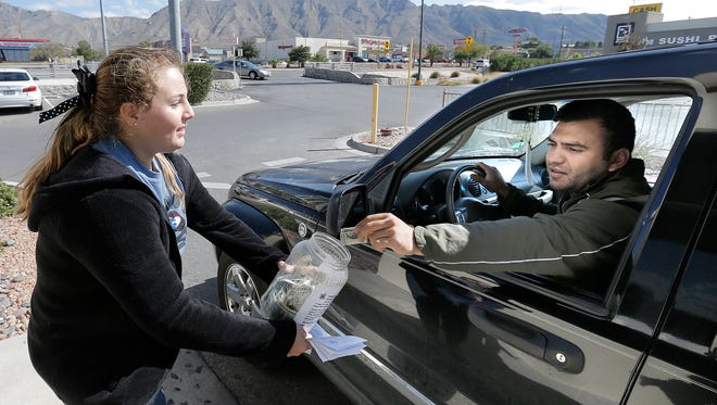 Eleanor Schoenbrun spends countless hours outside the Starbucks at Mesa Street and Sunland Park Drive raising funds for the Animal Rescue League of El Paso. Now in her fifth year of fundraising for the organization, she has collected more than $40,000.