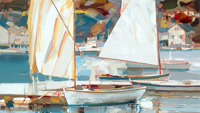 """The Nan Miller Gallery's latest exhibit includes this painting by Josef Koat titled """"Just Another Day."""""""