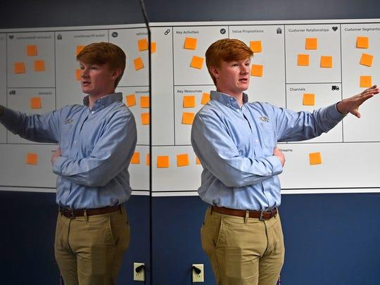 Battle Ground Academy student Drew Martin explains