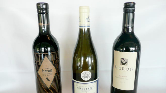 Among great wines for less than $30 a bottle are: 2013 Beren Zinfandel California ($20-25), 2014 Cheverny Domaine du Salvard Loire Valley France ($20-26) and 2013 Heron Merlot, California ($18).