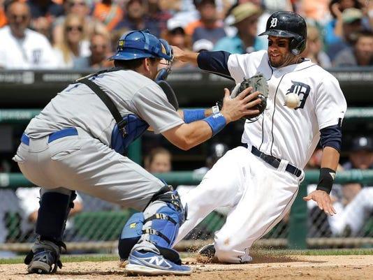 APTOPIX Dodgers Tigers Baseball