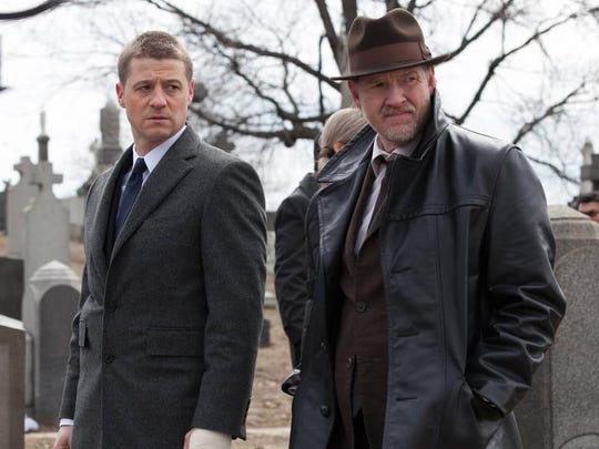 "Ben McKenzie, left, and Donal Logue in ""Gotham,"" a moody drama about the early years of Batman-to-be Bruce Wayne. It premieres at 8 p.m. Sept. 22 on Fox. Jada Pinkett Smith also stars."