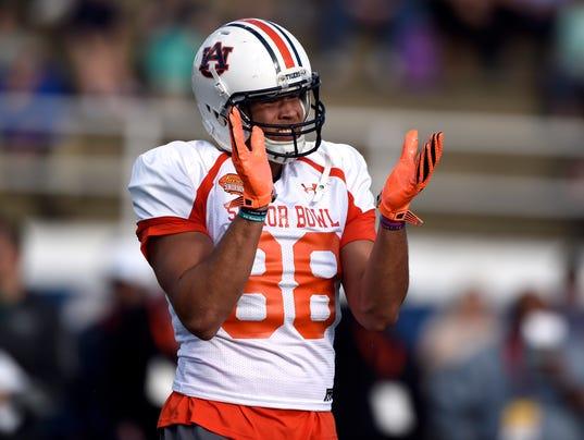 NCAA Football: Senior Bowl-South Team Practice