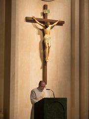 Deacon Frank Weber at St. Robert Bellarmine Church in Freehold, NJ on September 19, 2015. Weber will be helping to distribute communion at Pope Francis' mass in Philadelphia on September 27.