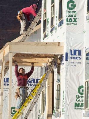 Housing starts rose sharply in February.