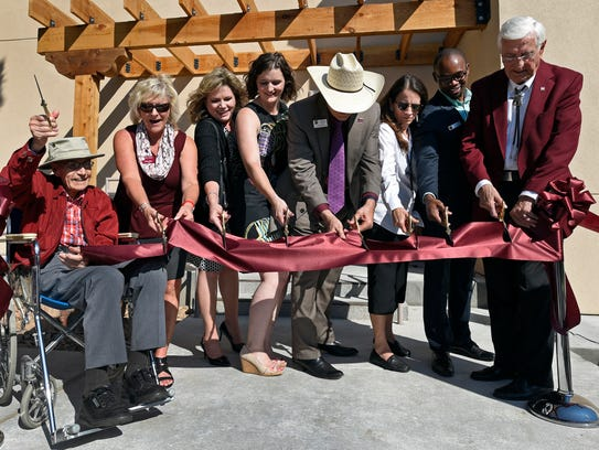 Herb Zuhl, far left, and New Mexico State University