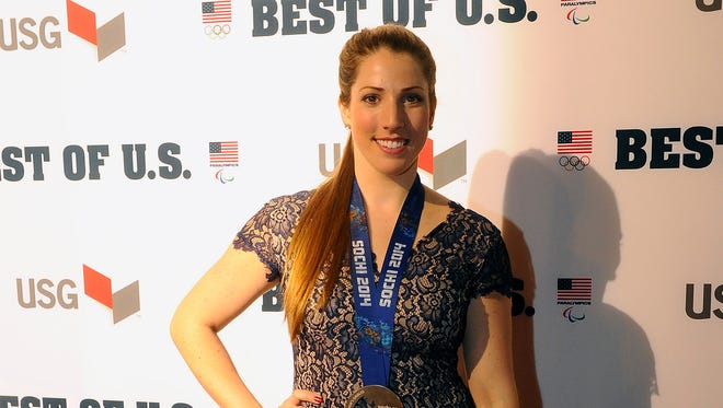 U.S. Olympic luge bronze medalist Erin Hamlin was named best female Olympian during the U.S. Olympic Committee's Best of U.S. Awards Show at Warner Theater in Washington Wednesday.