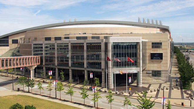 The Quicken Loans Arena in Cleveland, shown in a 2006 photo, will be the site of the Republican convention in July.