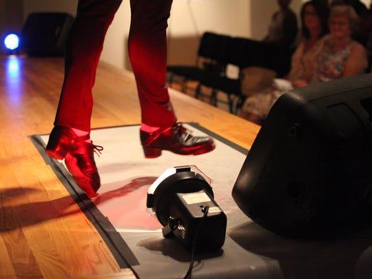Irish step dancers perform at the Irish Cultural Center