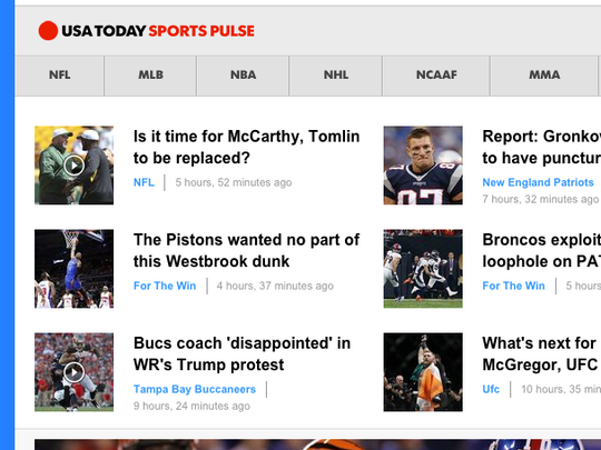 The USA Today Sports Pulse is found on the Sports front.