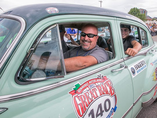 Scott Culp drove Central Magnet School's team during the 2017 Great Race. Murfreesboro's Cannonsburgh Village served as a stop on the race and the Central team was the first to arrive that year. The team leaves later this month for the 2019 race.