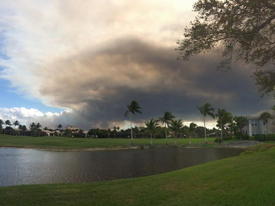 Toni Falato Sherman submitted this photo of the brush fire as seen from North Naples.