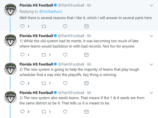 Joshua Wilson, owner and publisher of FloridaHSFootball.com has been an advocate of the new format since it was announced last year.