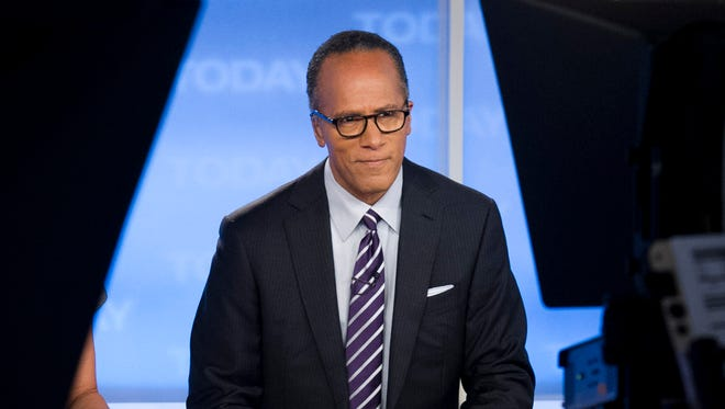 """Lester Holt, pictured on """"Today,"""" has held onto NBC's """"Nightly News"""" lead while filling in for Brian Williams."""