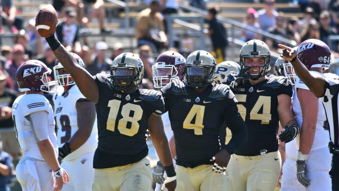 By Frank Oliver-- Purdue tops Eastern Kentucky University 45-24 on Saturday September 3, 2016.