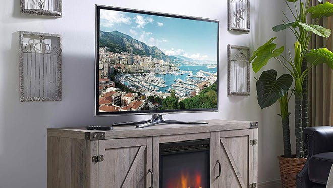 The most popular fireplace TV stands on Amazon