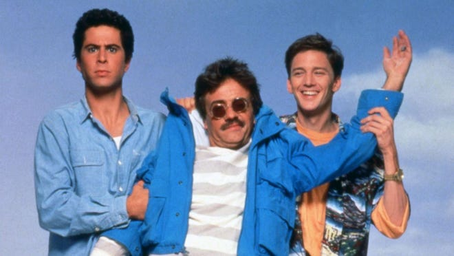 """""""Weekend at Bernie's"""" shot in the Wilmington area in 1988. It stars (from left), Jonathan Silverman, Terry Kiser and Andrew McCarthy."""