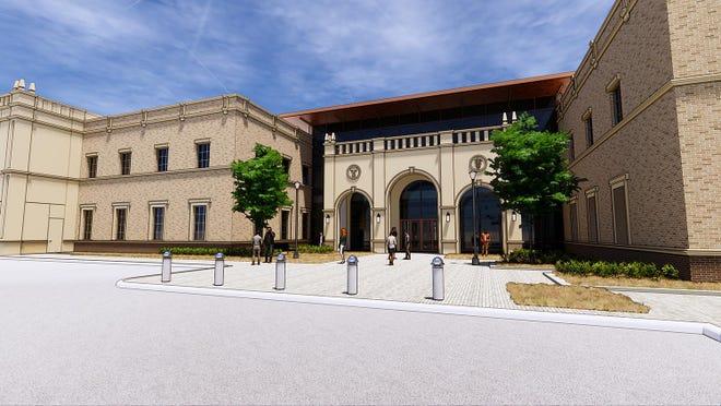 Rendering of the planned Texas Tech University School of Veterinary Medicine in Amarillo.